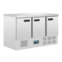 Polar Gekoelde Werkbank met 3 Deuren | 368 Liter | ACTIE