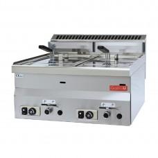 Gastro-M gas friteuse 8+8ltr 60/60 FRG