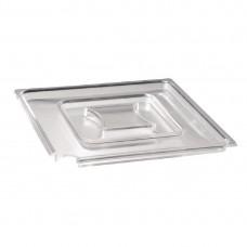 Float vierkante heldere deksel SAN 19x19cm Melamine Float