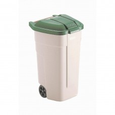 Rubbermaid rolcontainer met groene deksel Afvalcontainers