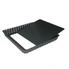 De Buyer vierkante anti-kleef taartvorm met losse bodem 18cm
