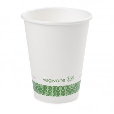 Vegware composteerbare koffiebekers wit 34cl per 1000