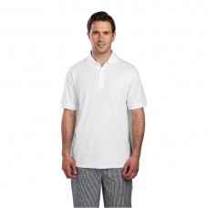 Poloshirt wit - Maat L Poloshirt Heren