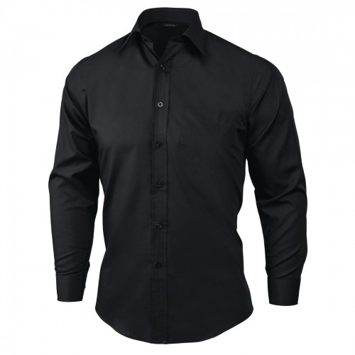 Maat Overhemd Heren.Heren Overhemd Zwart Maat S