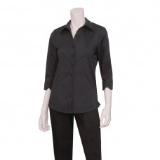 Uniform Works damesblouse zwart L Dames Shirts