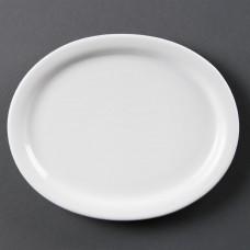 Olympia Whiteware Ovale Serveerschaal Ø 20,4 cm. Per 6 Olympia Wit Porselein