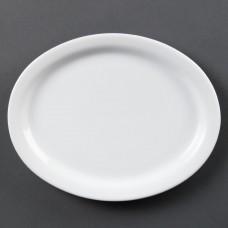 Olympia Whiteware Ovale Serveerschaal Ø 25 cm. Per 6 Olympia Wit Porselein