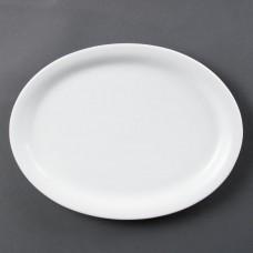 Olympia Whiteware Ovale Serveerschaal Ø 29 cm. Per 6 Olympia Wit Porselein
