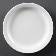 Olympia Whiteware Bord met Smalle Rand Ø 15 cm. Per 12 Olympia Wit Porselein