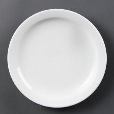 Olympia Whiteware Bord met Smalle Rand Ø 20 cm. Per 12 Olympia Wit Porselein