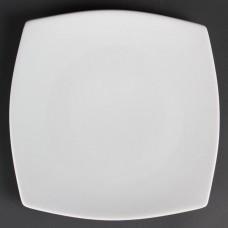 Olympia Whiteware Vierkant Bord met Afgeronde Hoeken Ø 27 cm. Per 12 Olympia Wit Porselein