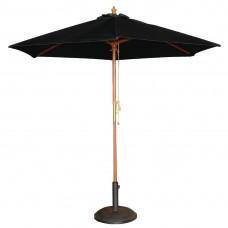 Bolero ronde zwarte parasol 2,5 meter Parasols