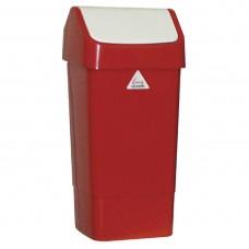 Afvalbak met schommeldeksel rood Afvalbeheer