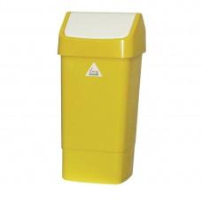 Afvalbak met schommeldeksel geel Afvalbeheer