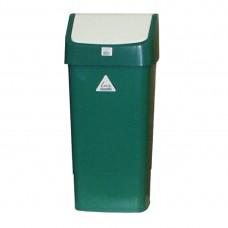 Afvalbak met schommeldeksel groen Afvalbeheer