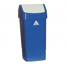 Afvalbak met schommeldeksel blauw Afvalbeheer