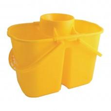 Kleurcode dubbele mopemmer geel Emmers Mop