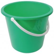 Kunststof emmer 10ltr groen Emmers Mop