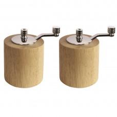 Bamboo molen set 8,5cm Menage + Peper en Zout