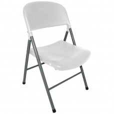 Bolero opklapbare stoelen wit (2 stuks) Klapstoelen