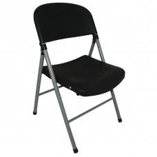 Bolero opklapbare stoelen zwart (2 stuks) Klapstoelen
