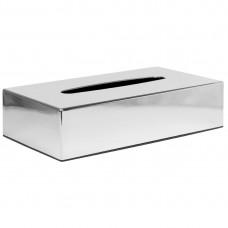 Verchroomde rechthoekige tissue box Hotelbenodigheden
