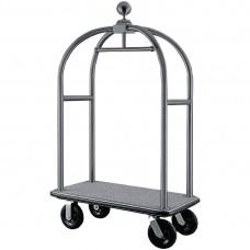 Bagage Trolley met Hangerrail Geborsteld RVS Hotelbenodigheden
