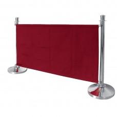 Bolero canvas afzetdoek rood Afzetpalen
