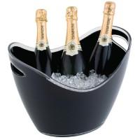 Champagne bowl zwart groot Wijn- Champagnekoelers