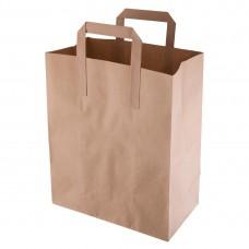 Bruine papieren draagzak recyclebaar middelgroot Disposables Zakken