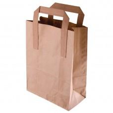 Bruine papieren draagzak recyclebaar groot Disposables Zakken