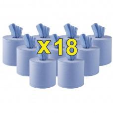 Jantex blauwe centre feed handdoekrollen 2-laags