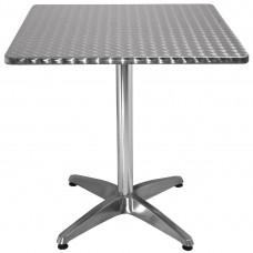 Bolero vierkante RVS bistrotafel 70cm Bistrotafels