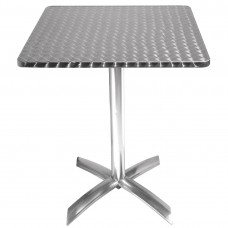 Bolero vierkante bistrotafel met kantelbaar RVS blad 60cm Bistrotafels