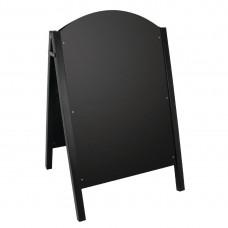 Olympia stoepbord met zwart metalen frame Stoepborden