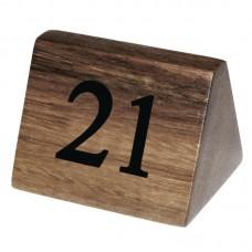 Olympia houten tafelnummers 21-30 Tafelstandaards