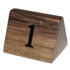 Olympia houten tafelnummers 1-10 Tafelstandaards