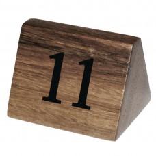 Olympia houten tafelnummers 11-20 Tafelstandaards