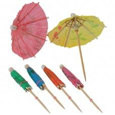 Parasols kleuren assorti 17cm Rietjes Fiesta