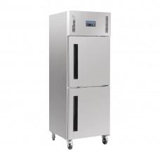 Polar Gastro 1-deurs vriezer met gedeelde deur 600ltr