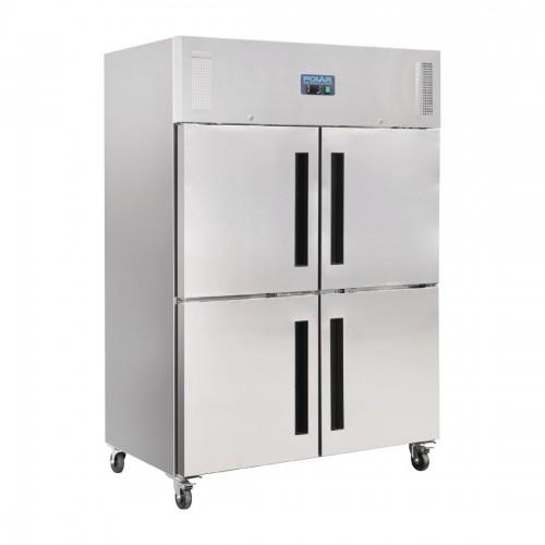 Polar Gastro 2-deurs vriezer met gedeelde deuren 1200ltr