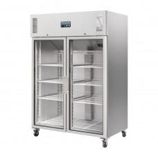 Polar Gastro 2-deurs koeling met glazen deuren 1200ltr