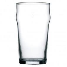 Arcoroc Nonic geharde bierglazen met reliëfbodem per 48