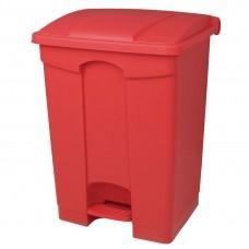 Jantex keuken pedaalemmer rood 65ltr