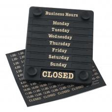 Deurbord Open/Gesloten weekdagen en tijd Deurschilden - Tekstplaatjes