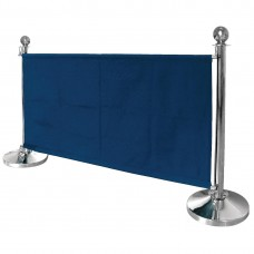Bolero canvas afzetdoek donkerblauw Afzetpalen