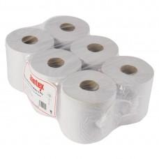 Jantex witte centre feed handdoekrollen 6 stuks