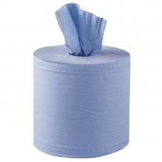 Jantex blauwe centre feed handdoekrollen 6 stuks