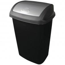 Curver afvalbak met schommeldeksel zwart 50ltr Afvalbeheer