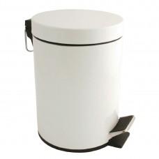 Witte pedaalemmer 5ltr Afvalbakken